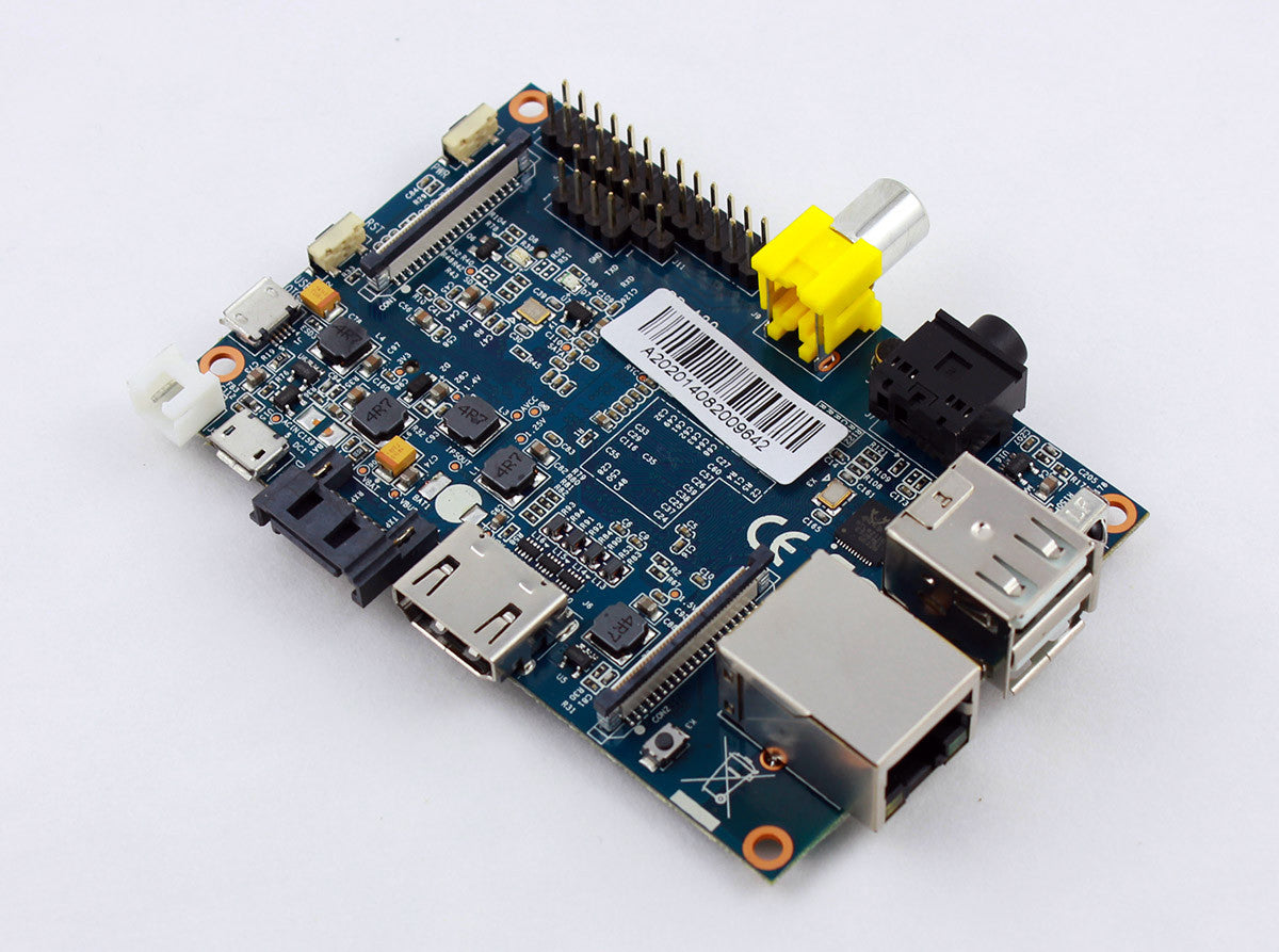 Banana Pi Computer Board - BPI-M1 with CPU+DDR aluminum heat-sink kit included