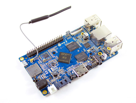 Orange Pi Plus - 1.6 GHZ quad-core Allwinner H3 SoC 40-pin Pi-compatible GPIO, WiFi, and SATA.-