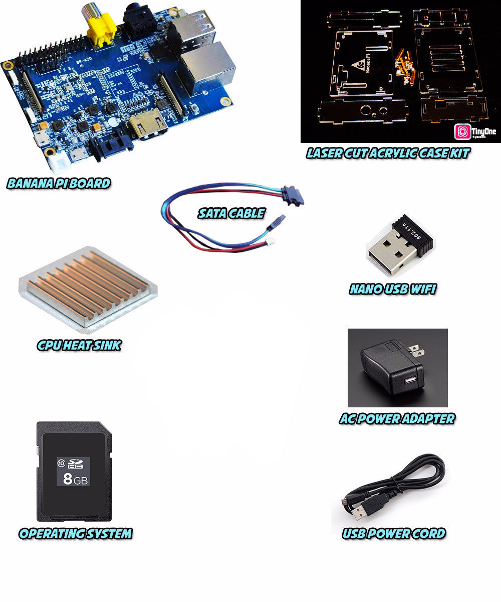 Banana Pi Complete DIY Kit - (Advanced) Build a Banana Pi Model G2