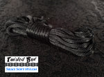 "Gloss Black Nylon Bondage Rope 1/4"" 6mm"
