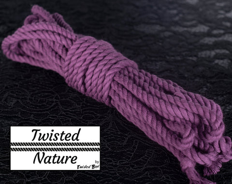 Mulberry Purple Twisted Cotton Rope Set