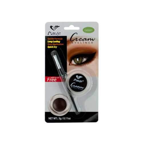 Green Cream Eyeliner with Brush ( Case of 24 )