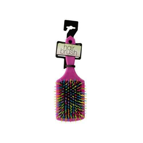 Rainbow Square Paddle Hair Brush ( Case of 18 )