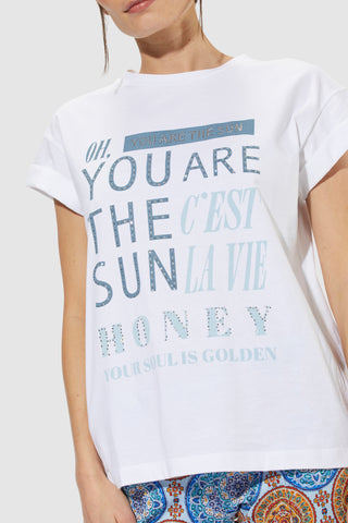 T-Shirt with wording