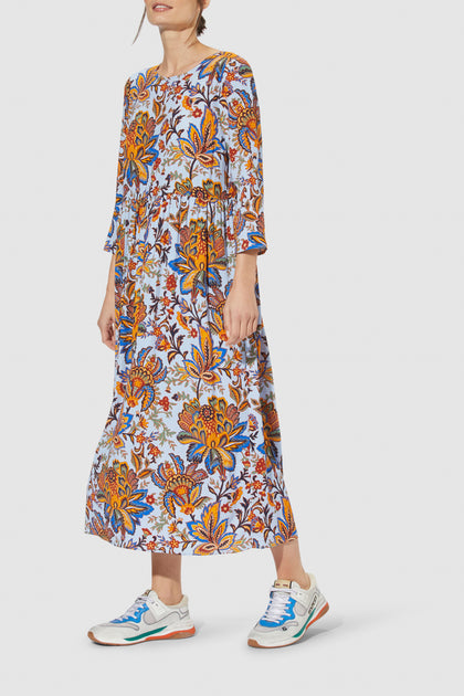 Dress long with print