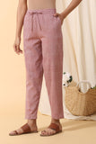 Malkha Cotton Tapered Pants (Light Red)