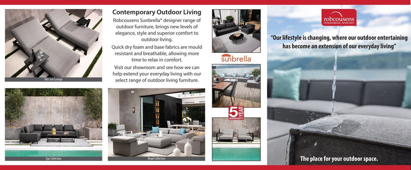 Outdoor Furniture  -Sunbrella Sofa Range Now in store