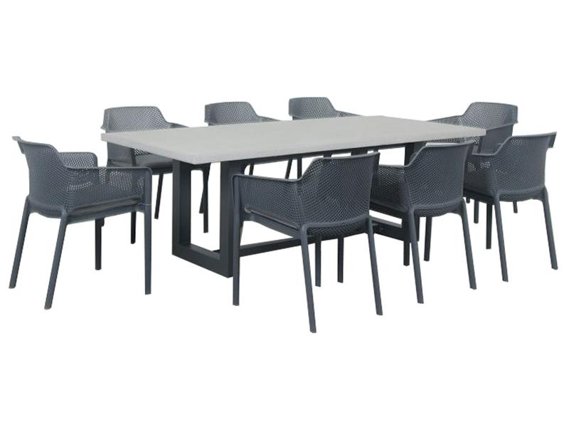 Manhattan 9pc Setting - robcousens Outdoor Furniture Factory direct