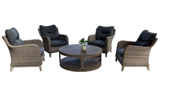 Bolsena 5pc Sofa - Round Coffee Table