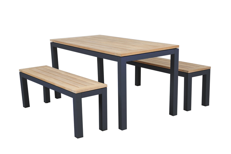 Santos 5pc 1500 Bench Combo set - Teak Tops