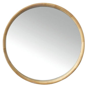 Inga Oak Round Mirror 90cm - robcousens Outdoor Furniture Factory direct