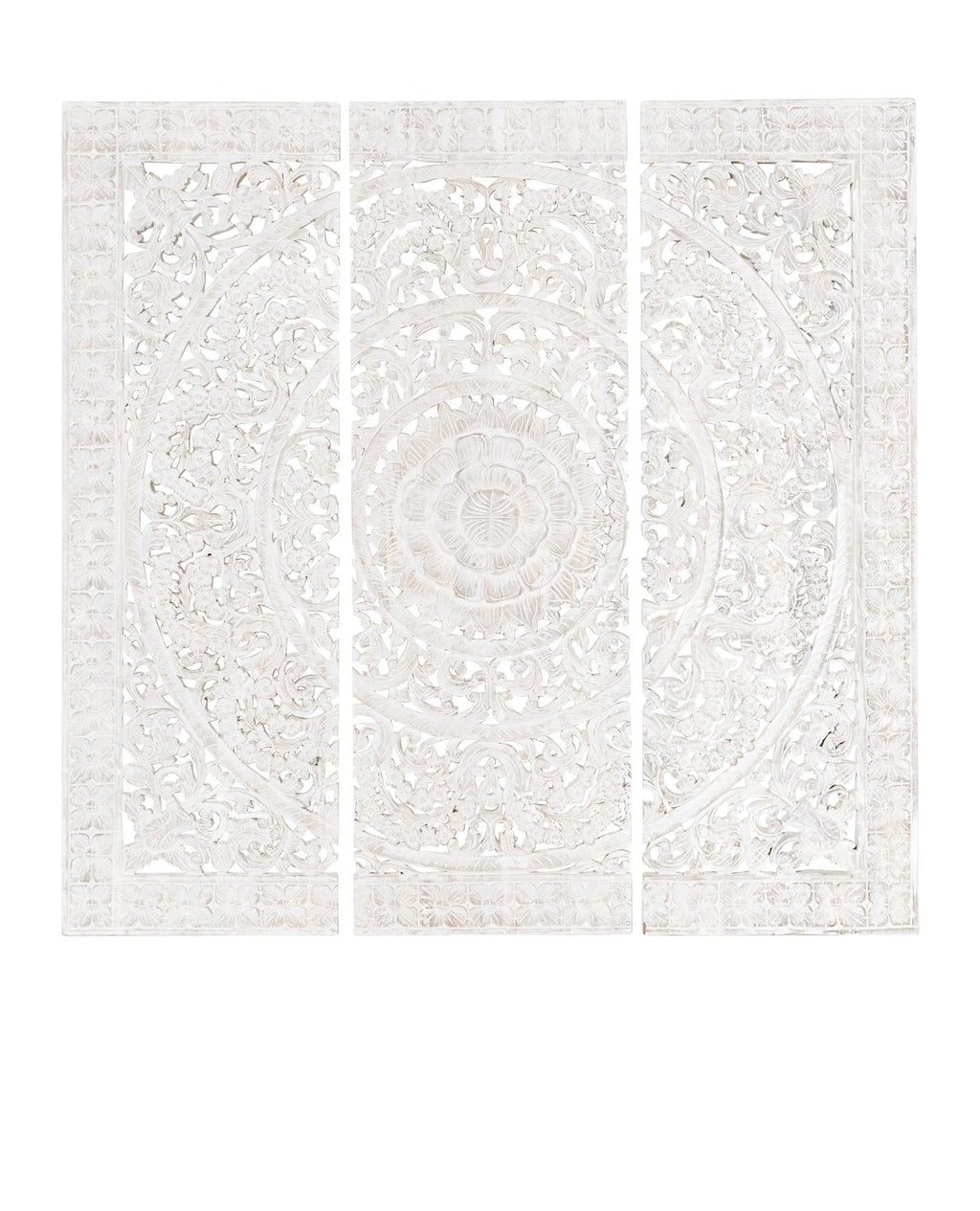 Gisele Carved Panel whitewash Lge 182x182cm - robcousens Outdoor Furniture Factory direct