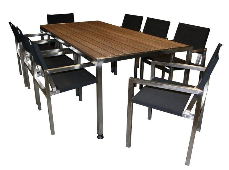 Outdoor Furniture 9pc Hawthorn Dining Sets - robcousens Outdoor Furniture Factory direct