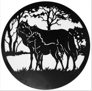 Horse Wall Art Round
