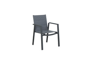 San Remo Sling 5pc Square - Gunmetal 900x 900mm - robcousens Outdoor Furniture Factory direct