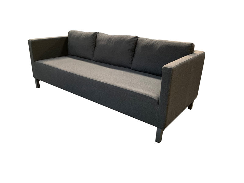 Riviera Triple sofa with Ottoman - Sooty