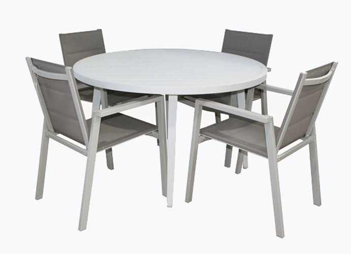 San Remo Sling Portsea 5pc DOVE GREY 1200 x 1200mm Round