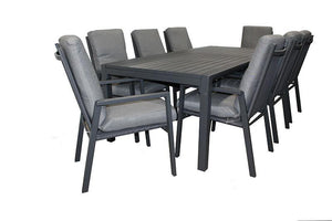 San Remo 9pc Cushion Set 2100 x 900 - robcousens Outdoor Furniture Factory direct