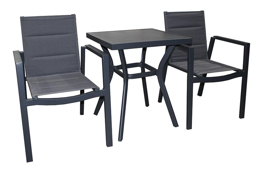 San Remo Sling 3pc Bistro setting - robcousens Outdoor Furniture Factory direct