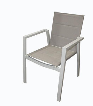 San Remo Sling Portsea  9pc DOVE GREY 2100 x 900mm - robcousens Outdoor Furniture Factory direct