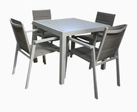 San Remo Sling 5pc Sets DOVE GREY 900 x 900mm - robcousens Outdoor Furniture Factory direct