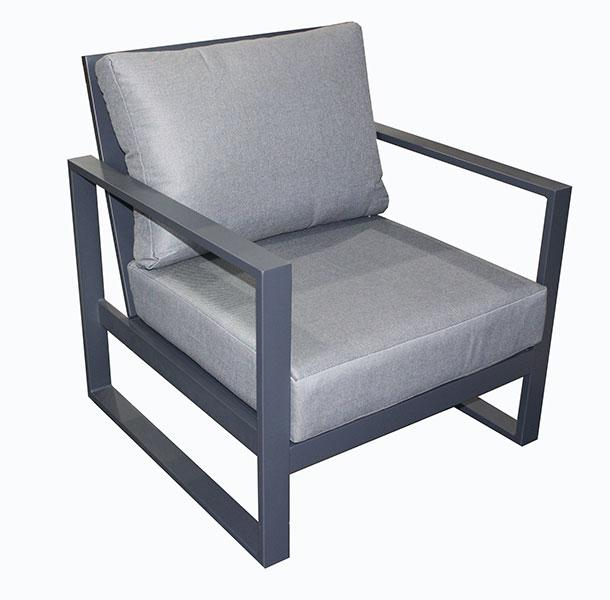 Torquay Single Sofa Chair Gunmetal - robcousens Outdoor Furniture Factory direct