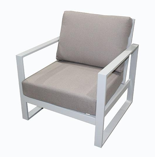 Torquay Single Sofa Chair Dove Grey - robcousens Outdoor Furniture Factory direct