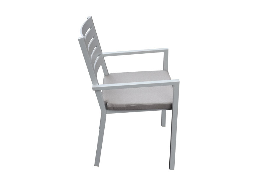 Trieste 5pc Rectangle Dining Dove grey
