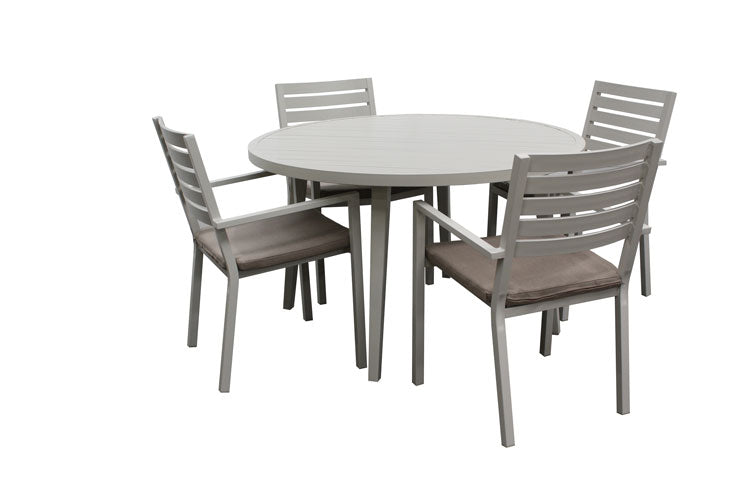 Trieste 5pc Round Dining -Dove Grey