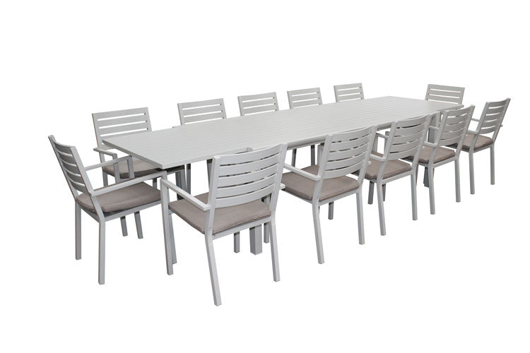 Trieste 13pc Dining Set-Dove Grey