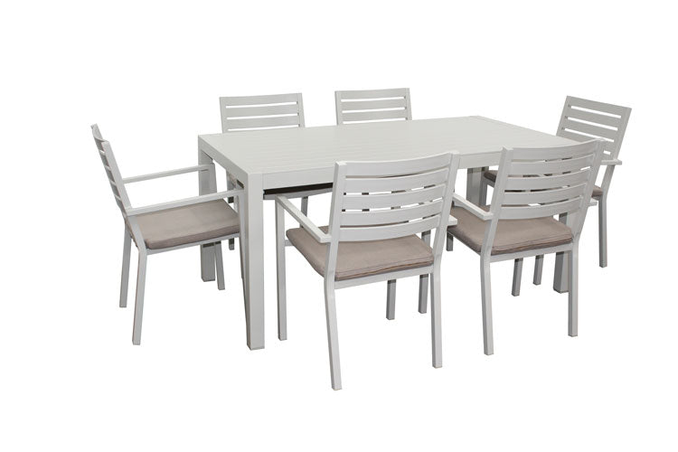 Trieste 7pc 1600 Dining- Dove Grey