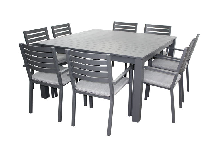 Trieste Byron 9pc Square Setting Gunmetal