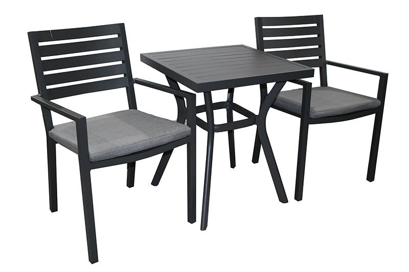 Trieste 3pc Bistro Setting- Gunmetal - robcousens Outdoor Furniture Factory direct
