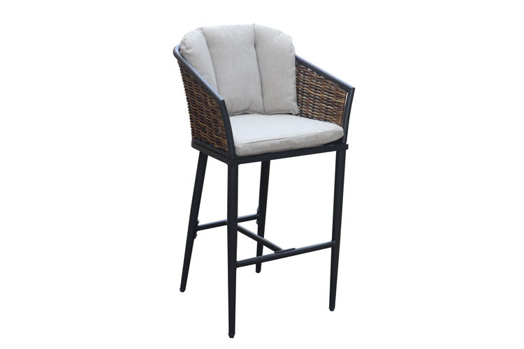 Verona Bar chair with Cushions Gunmetal