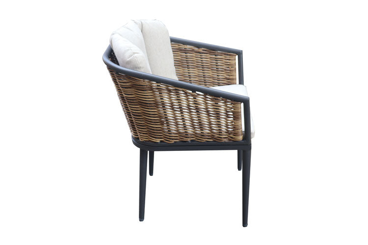 Verona chair with Cushion Gunmetal
