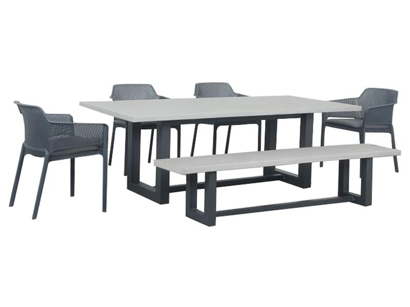 Geo Bailey 6pc Setting - robcousens Outdoor Furniture Factory direct