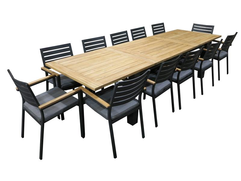 Clay 13pc Extension setting - robcousens Outdoor Furniture Factory direct