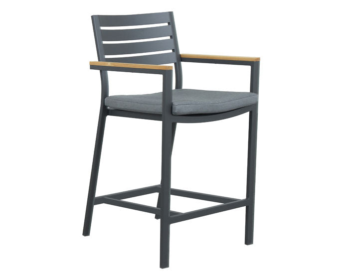Santos Bar chair -Gunmetal
