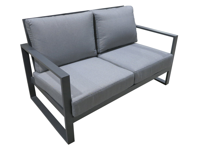 Santos Double 4pc Sofa set - Gunmetal