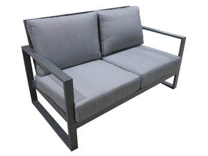 Manhattan Double Sofa set 4pc Gunmetal