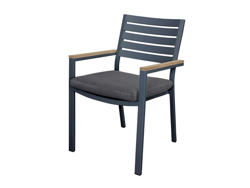 Clay Chair - Teak arm and cushion - robcousens Outdoor Furniture Factory direct