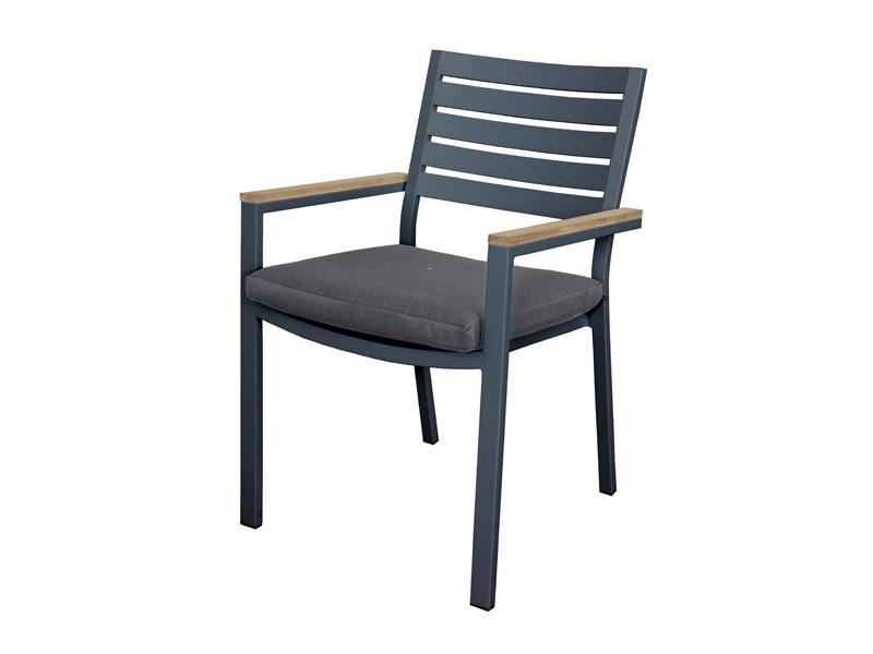 Santos Chair - Teak arm and cushion - robcousens Outdoor Furniture Factory direct