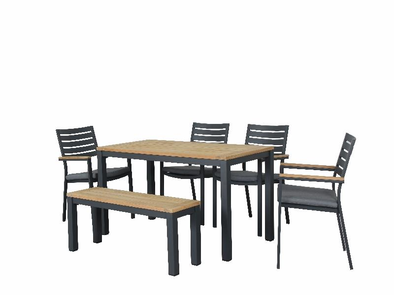 Clay 6pc Bench Combo Teak GM - robcousens Outdoor Furniture Factory direct