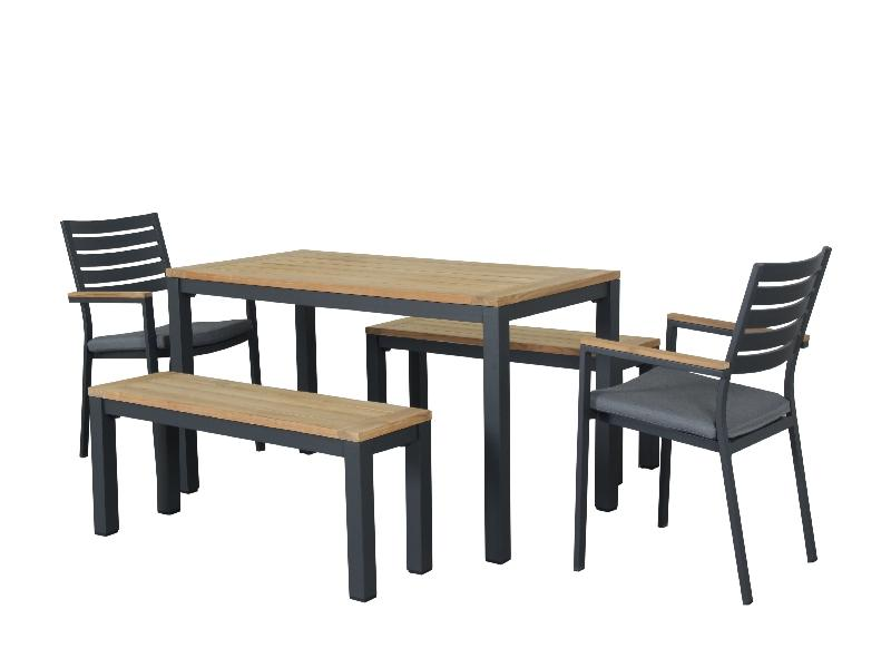 Santos 5pc 1500 Bench set - Teak Tops - robcousens Outdoor Furniture Factory direct