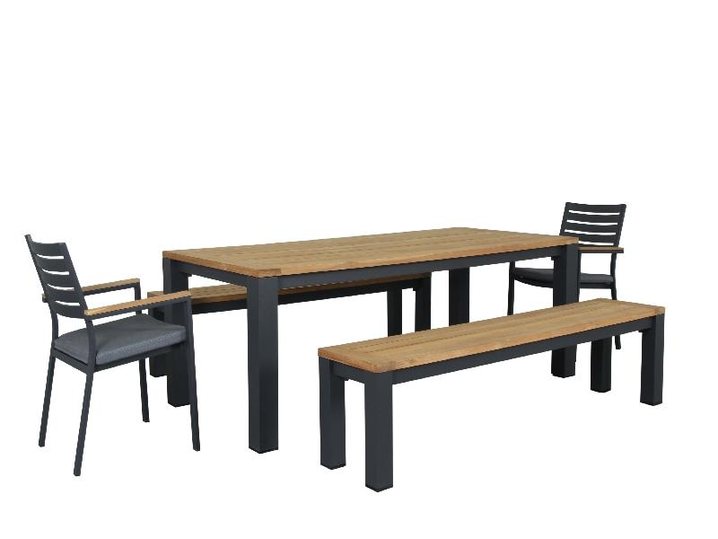 Santos 5pc 2200 Bench with chairs set - robcousens Outdoor Furniture Factory direct
