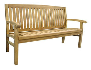 Outdoor Bench - Teak -Kingston - robcousens Outdoor Furniture Factory direct