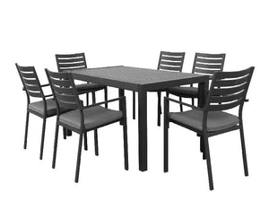 Trieste 7pc 1600 Dining- Gunmetal - robcousens Outdoor Furniture Factory direct