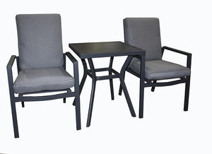 San Remo 3pc Cushion Bistro set - robcousens Outdoor Furniture Factory direct