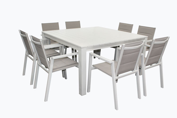 San Remo Sling 9pc Square Set - Dove Grey