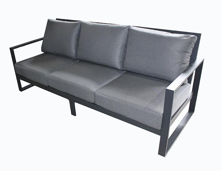 Torquay Triple sofa  Gunmetal - robcousens Outdoor Furniture Factory direct